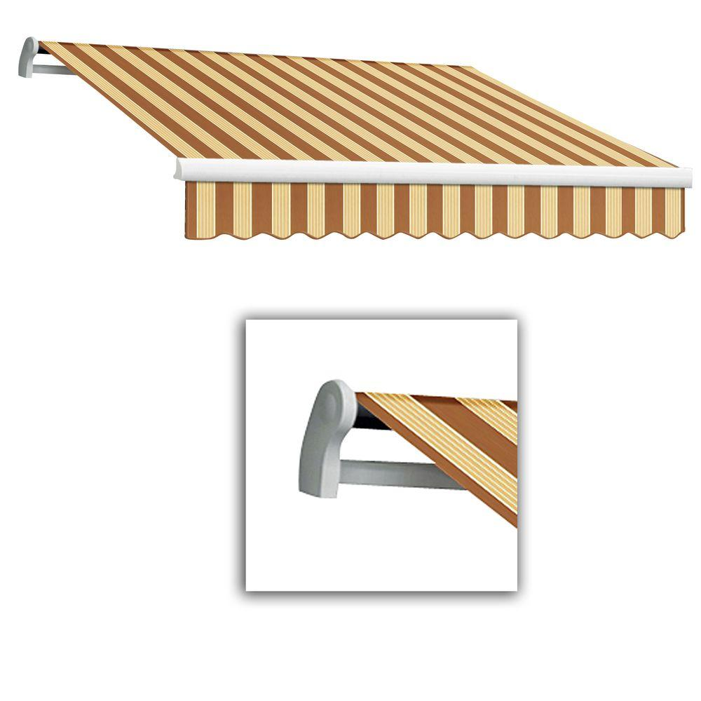 AWNTECH 24 ft. LX-Maui Manual Retractable Acrylic Awning (120 in. Projection) in Terra/Tan Multi