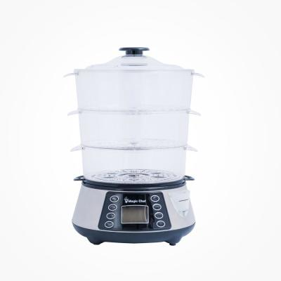 3-Tier 12 Qt. Stainless Steel Countertop Food Steamer and Rice Cooker