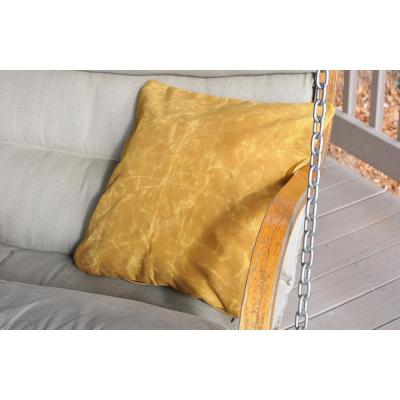 Yellow Solid Cotton 20 in. x 20 in. Throw Pillow