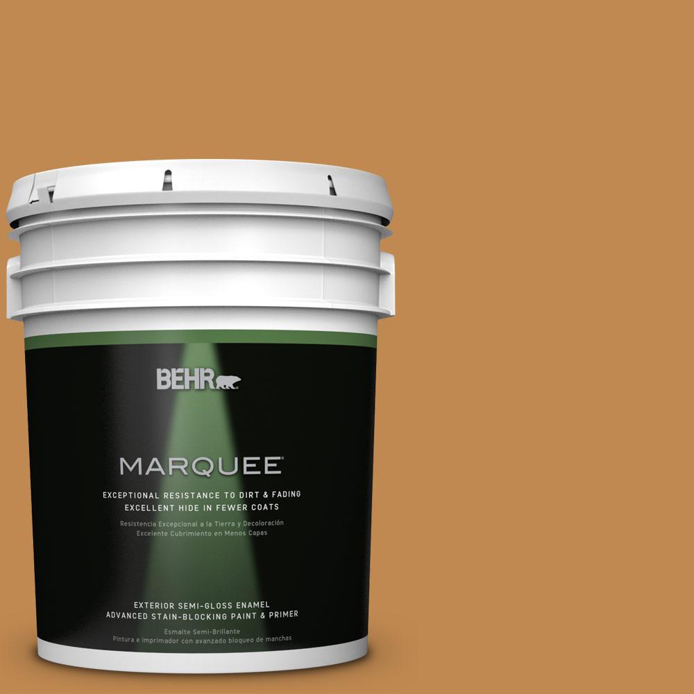 5-gal. #M250-6 Toffee Tart Semi-Gloss Enamel Exterior Paint