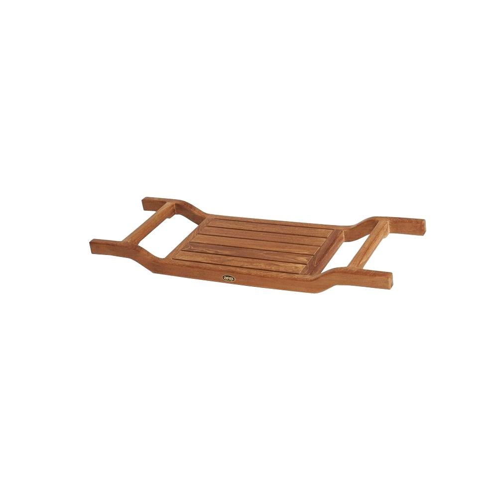 ARB Teak & Specialties 34 in. x 12.25 in. Bathtub Caddy in Natural ...