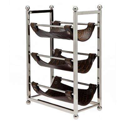 3-Bottle Wine Rack Brown