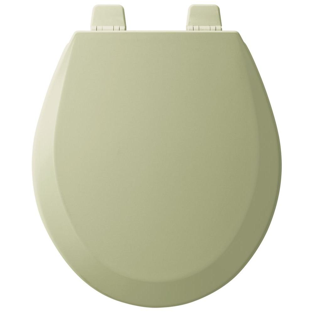 small round toilet seat. BEMIS Slow Close STA TITE Round Closed Front Toilet Seat in Bone 201SLOWA  006 The Home Depot