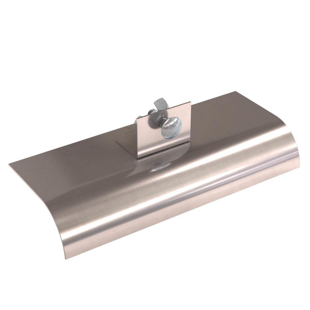 10 in. x 4 in. Stainless Steel Single Action Walking Concrete