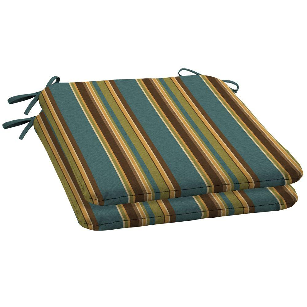 Arden Lakeside Stripe Outdoor Seat Pad (2-Pack)