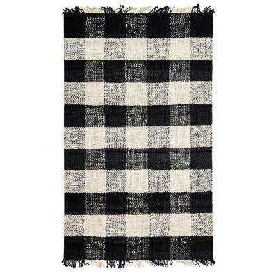 Great Glen Black 8 ft. x 10 ft. Area Rug