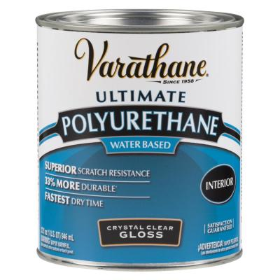 1 qt. Clear Gloss Water-Based Interior Polyurethane