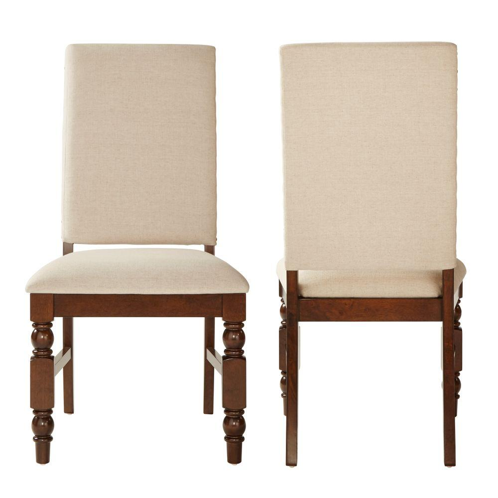 HomeSullivan Maxine Oatmeal Linen Dining Chair (Set Of 2)