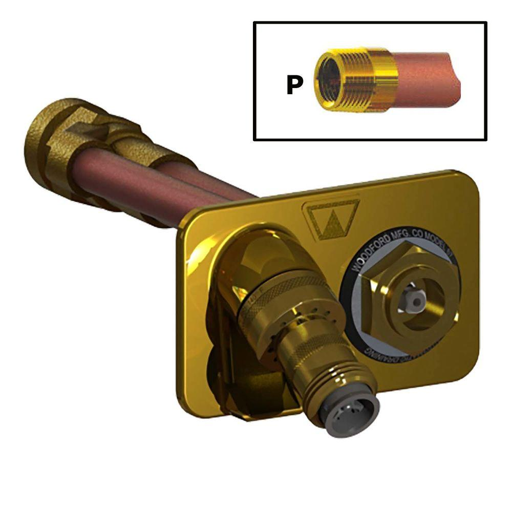 3/4 in. FPT x 14 in. Freezeless Polished Brass Wall Hydrant