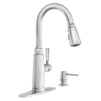 Coretta Single-Handle Pull-Down Sprayer Kitchen Faucet with Reflex and Power Boost in Chrome
