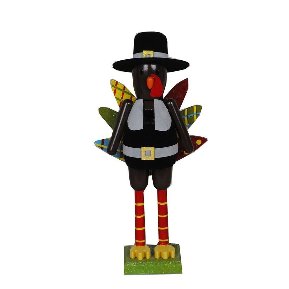 15 in. Turkey Nutcracker with Pilgrim Hat