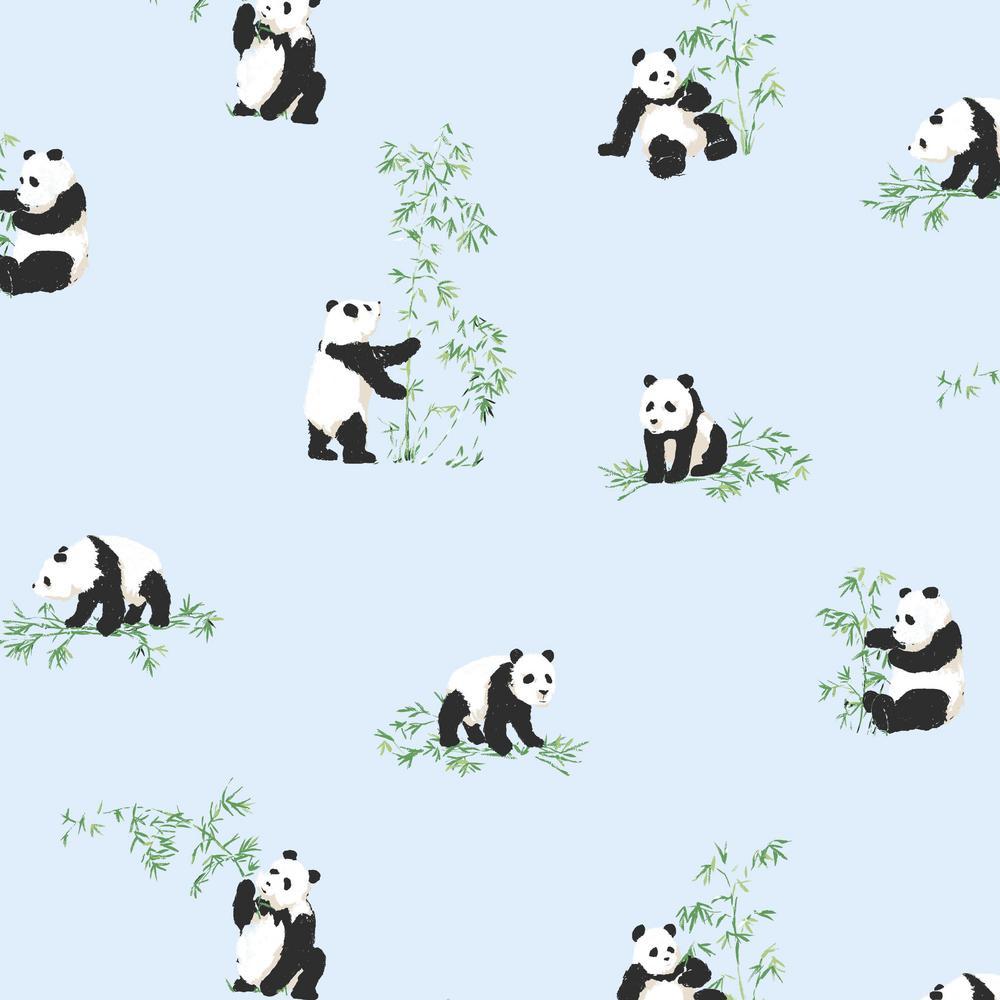 RoomMates 28.18 sq. ft. Panda Peel and Stick Wallpaper RMK11283RL