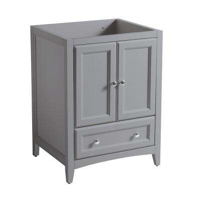 Oxford 24 in. W Traditional Bath Vanity Cabinet Only in Gray