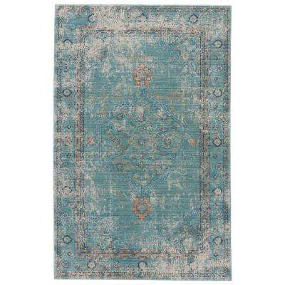 Porcelain Green 8 ft. x 10 ft. Vintage Area Rug