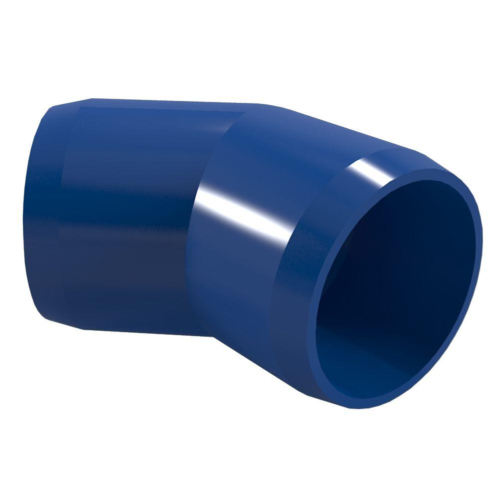 Formufit 1 in. Furniture Grade PVC 45-Degree Elbow in Blue (4-Pack)
