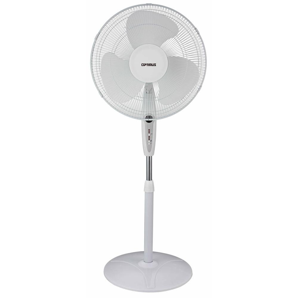Optimus 16 In Oscillating Pedestal Fan With Remote