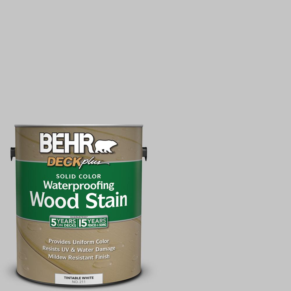 Behr deckplus 1 gal n520 2 silver bullet solid color for Behr paint silver bullet