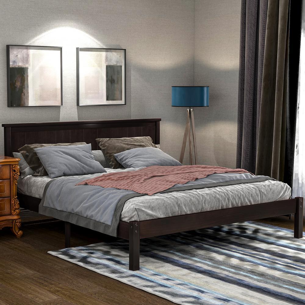 Espresso Queen Seeley Platform Bed with Headboard
