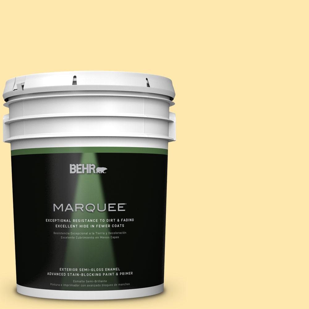 5-gal. #P290-2 Sweet as Honey Semi-Gloss Enamel Exterior Paint