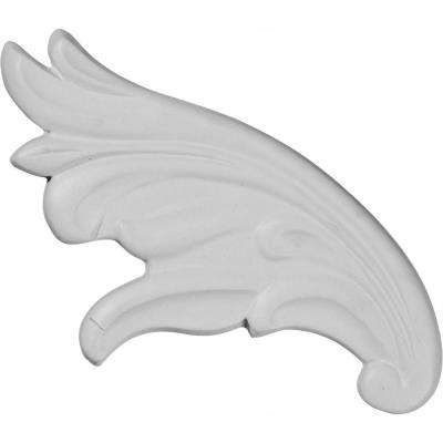 7/8 in. x 7-1/2 in. x 3-7/8 in. Polyurethane Piedmont Scroll Right Onlay