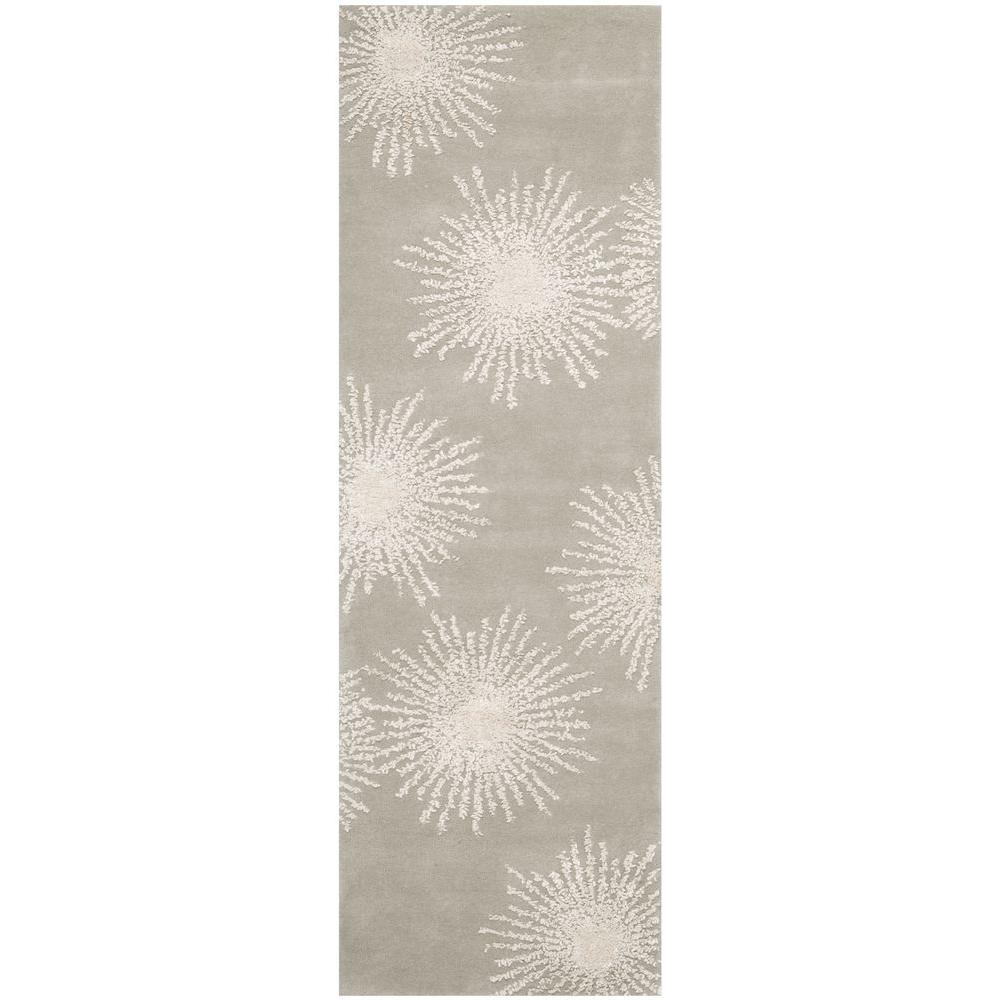 Safavieh Soho Grey/Ivory 2 ft. 6 in. x 6 ft. Runner
