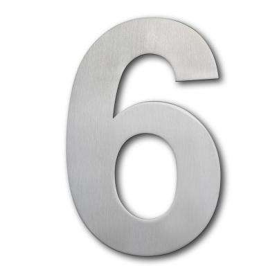 8 in. Brushed Stainless Steel Large Floating Modern Number 6/9
