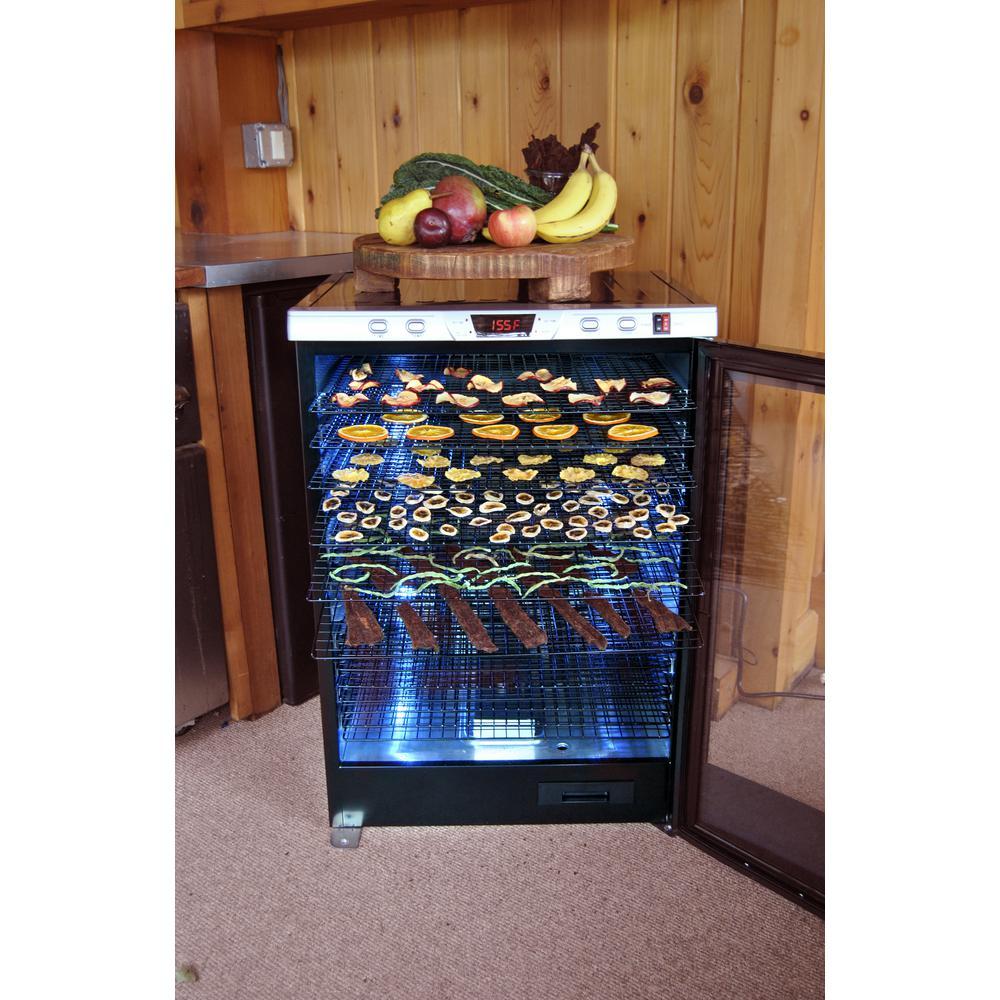 Weston-Pro-2400 24-Tray Black Food Dehydrator with Temperature Control