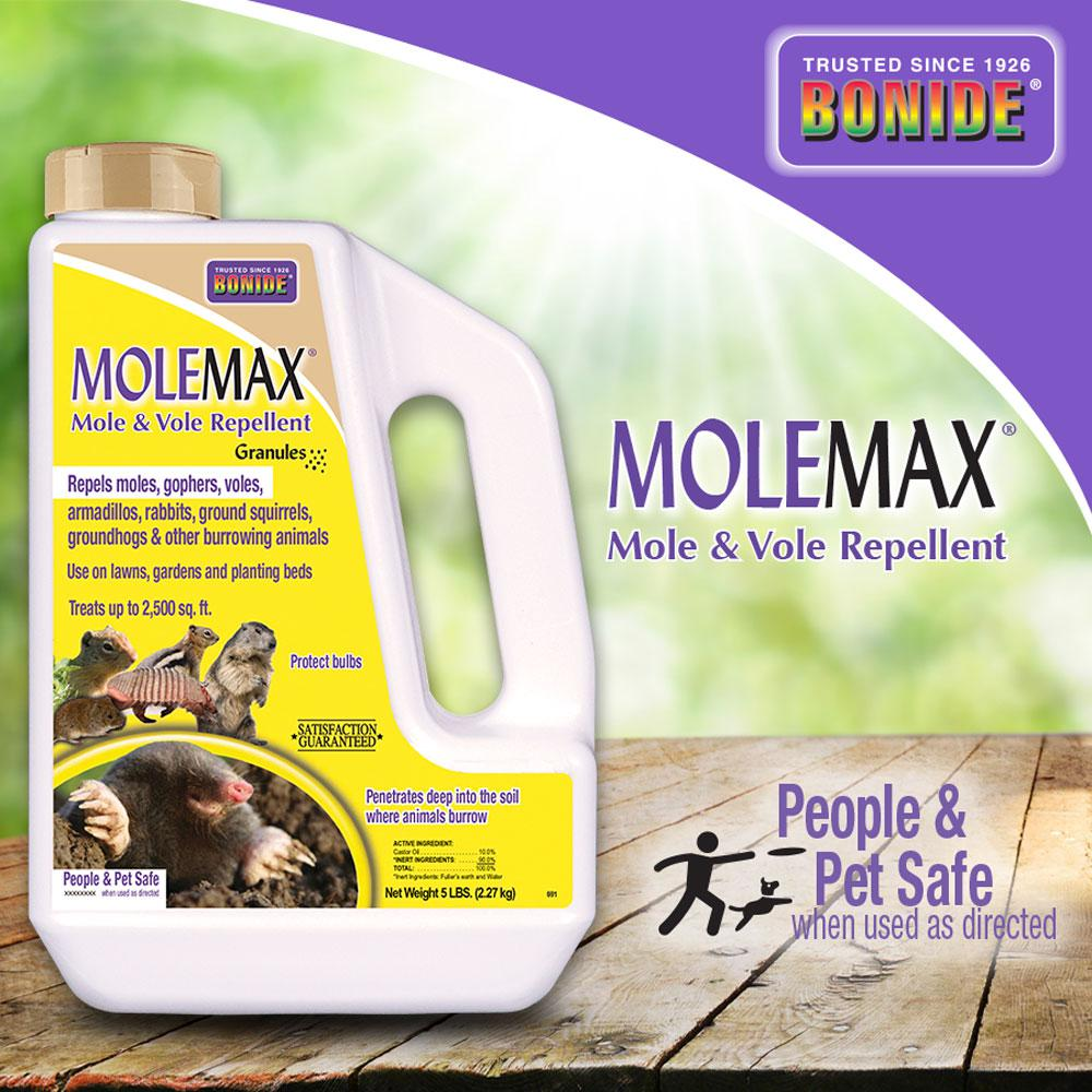 Bonide 5 Lbs Molemax Mole And Vole Repellent Granules 691 The Home Depot