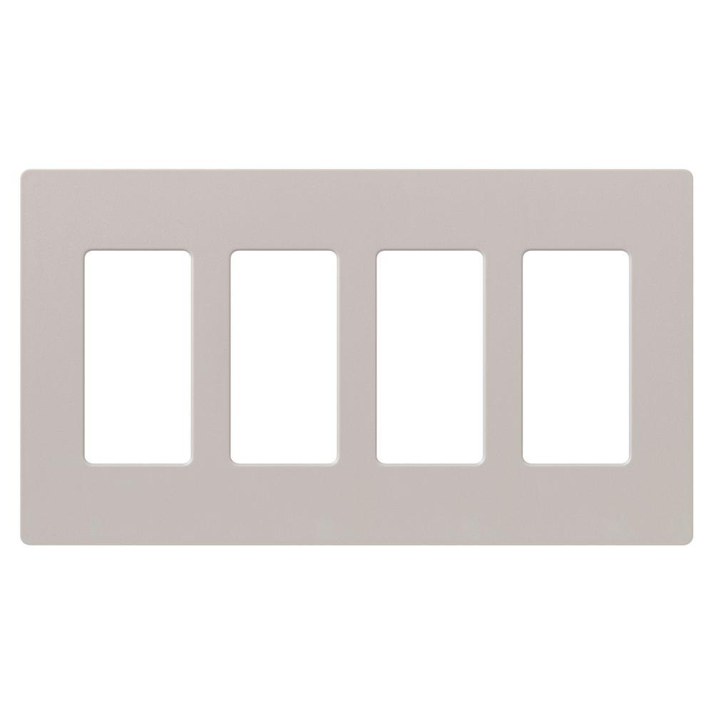 Lutron Claro 4 Gang Decorator Wallplate Taupe  sc 1 st  Home Depot & Lutron Claro 4 Gang Decorator Wallplate Taupe-SC-4-TP - The Home Depot