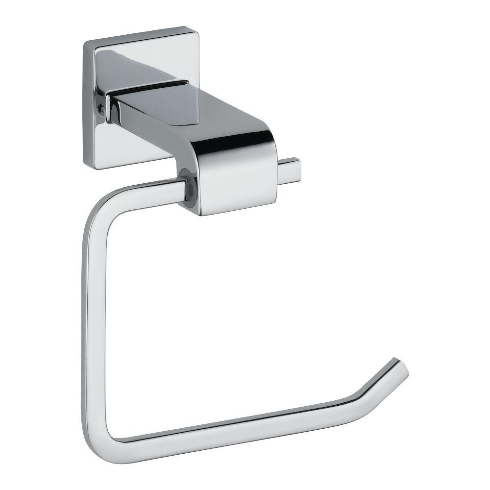 Delta Ara Single Post Toilet Paper Holder In Chrome 77550 The Home