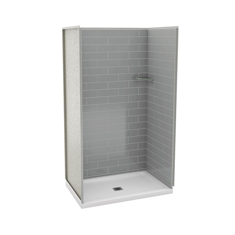 Durastall 32 in. x 32 in. x 75 in. Shower Stall with Standard Base ...