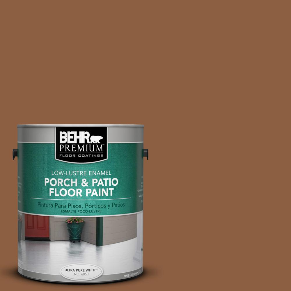 1 gal. #260F-7 Caramel Latte Low-Lustre Porch and Patio Floor Paint