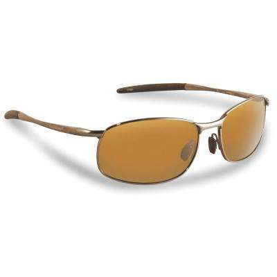 San Jose Polarized Sunglasses Copper Frame with Amber Lens