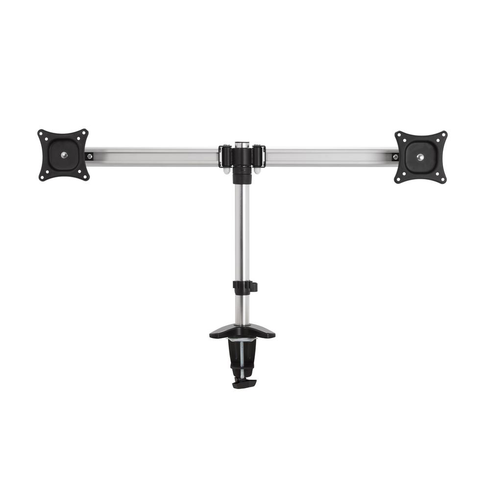 Double Head Tilt and Turn Monitor Desk Mount