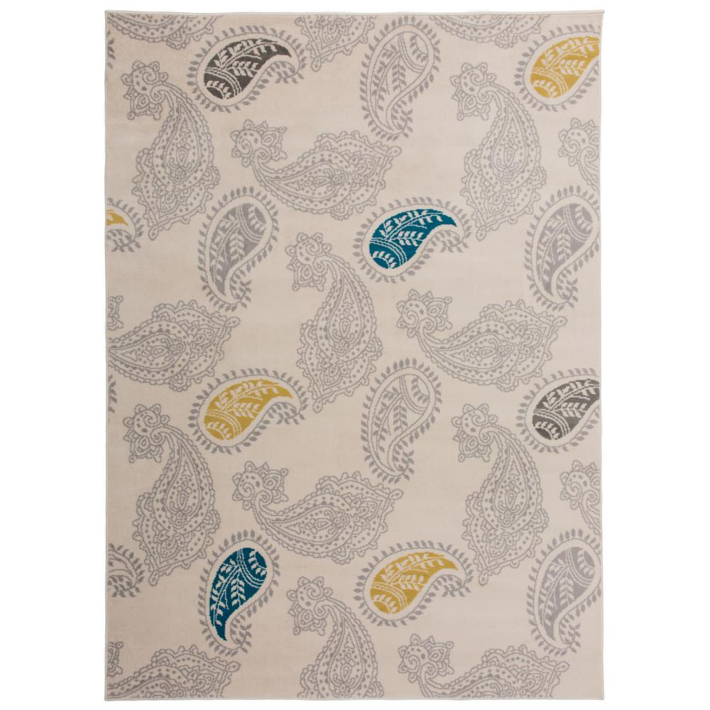 World Rug Gallery Contemporary Modern Floral Paisley