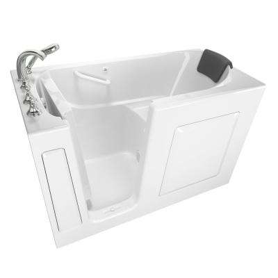 Gelcoat Premium Series 60 in. x 30 in. Left Hand Walk-In Air Bathtub in White