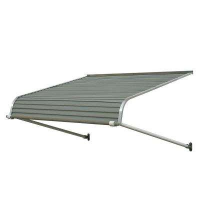 4 ft. 1100 Series Door Canopy Aluminum Awning (12 in. H x 42 in. D) in Graystone