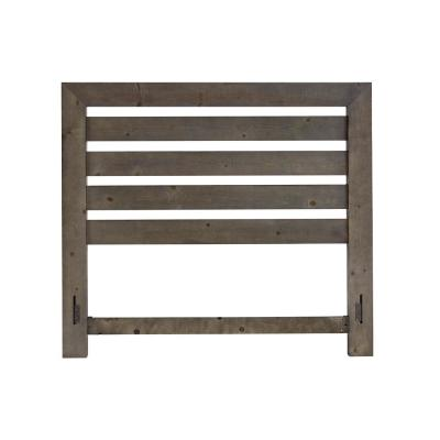 Willow Distressed Dark Gray King Slat Headboard