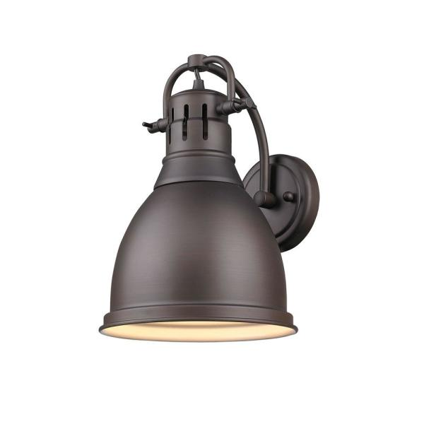 Duncan Rubbed Bronze Sconce