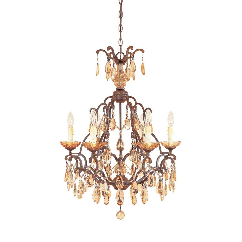 Venetian Bronze Chandelier: Designers Fountain Bollo 6-Light Venetian Bronze Interior