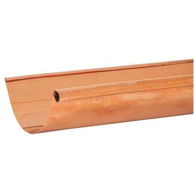 5 in. x 10 ft. Half-Round Copper Single Bead Gutter