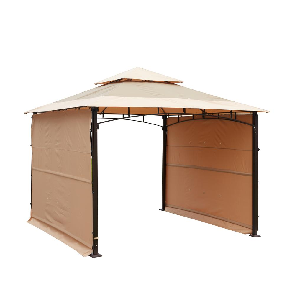 Patio Festival 10 7 Ft X 10 7 Ft Brown Canopy Gazebo Pf19920 The Home Depot