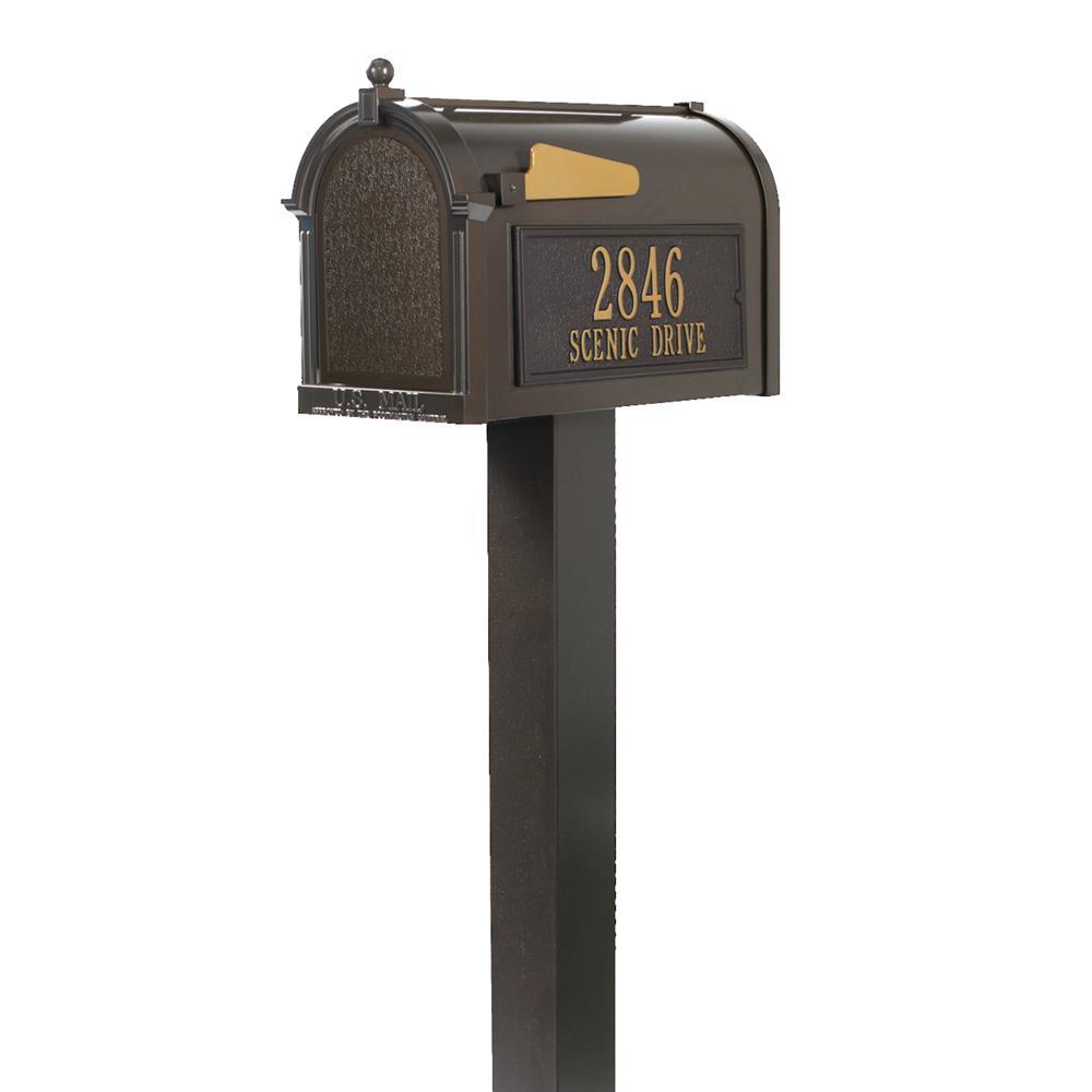 Premium French Bronze Streetside Mailbox