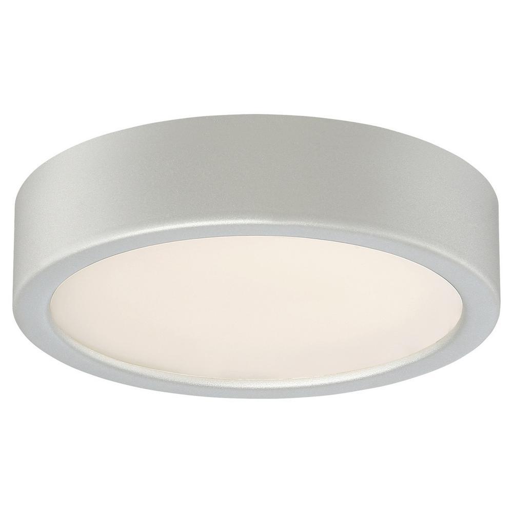 40-Watt Equivalent Silver Integrated LED Flush Mount