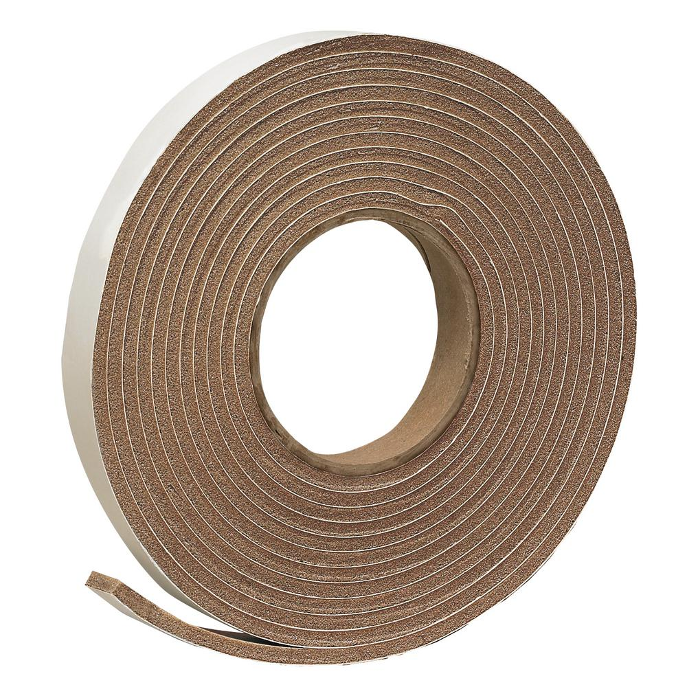 E/O 3/4 in. x 3/16 in. 17 ft. Brown Vinyl Foam