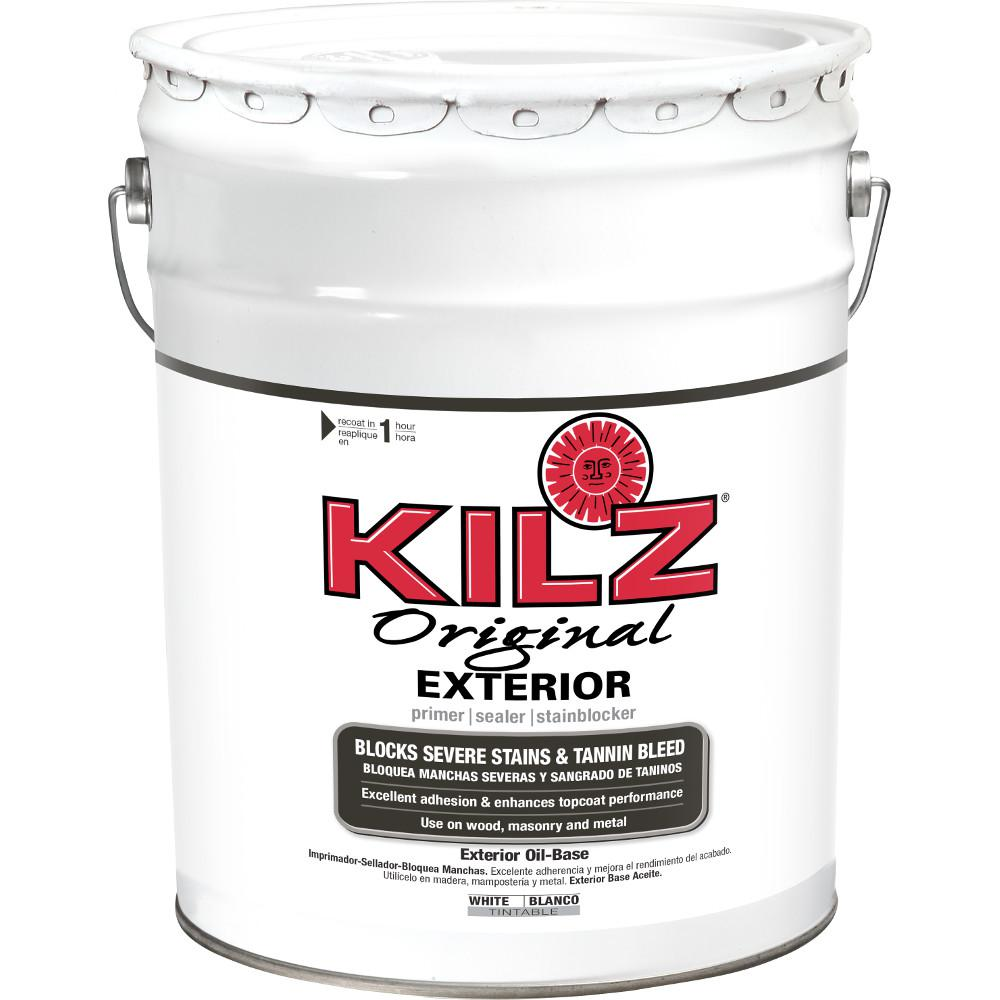 Kilz original exterior 5 gal white oil based exterior - Kilz 5 gallon interior oil primer ...