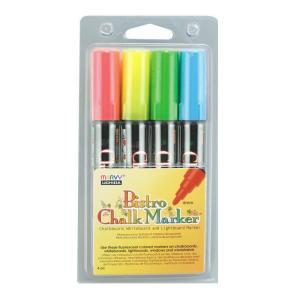 Fluorecent Colors Bistro Chalk Marker Set A (4-Piece)