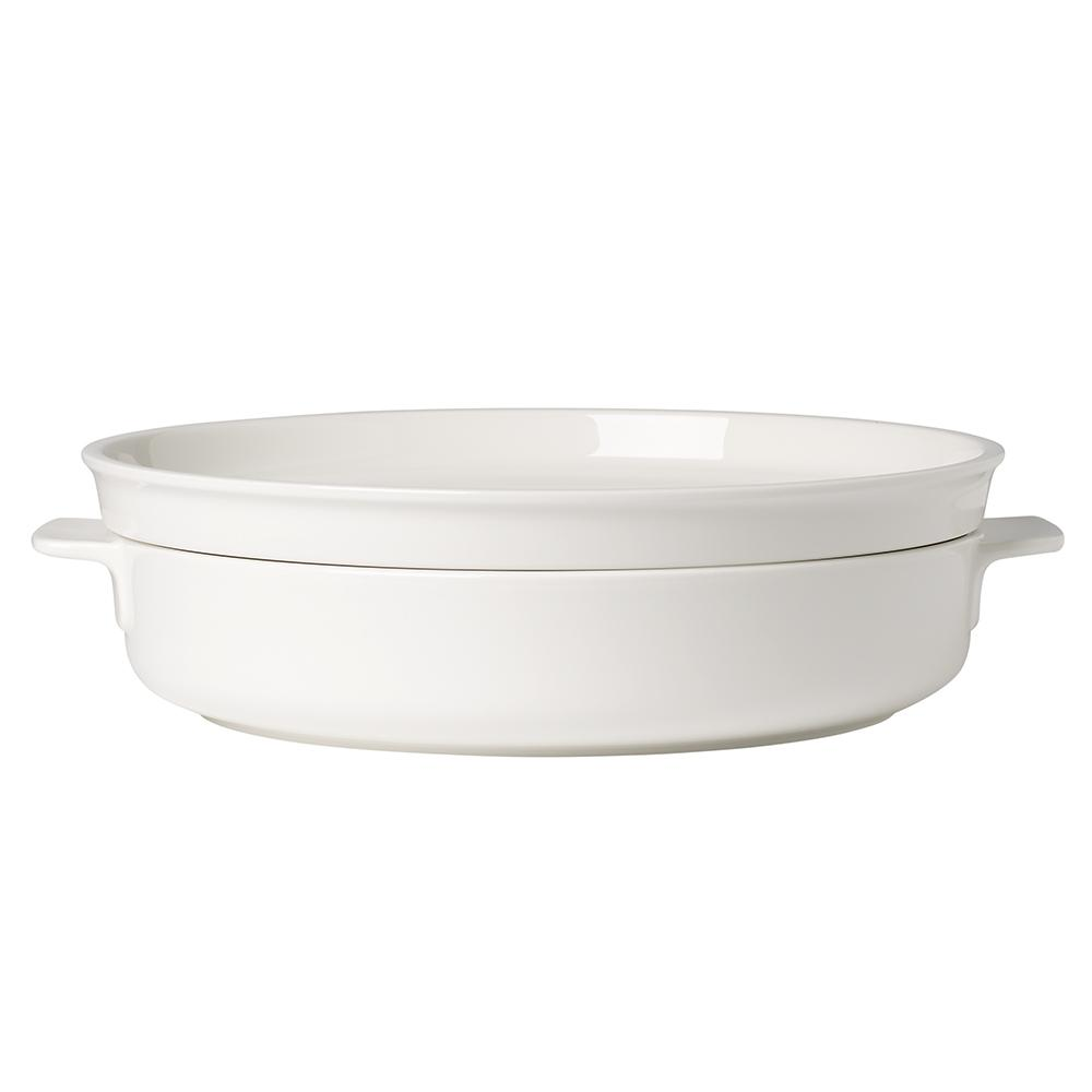 Clever Cooking 2-Piece 11 in. Round Casserole Dish with Lid