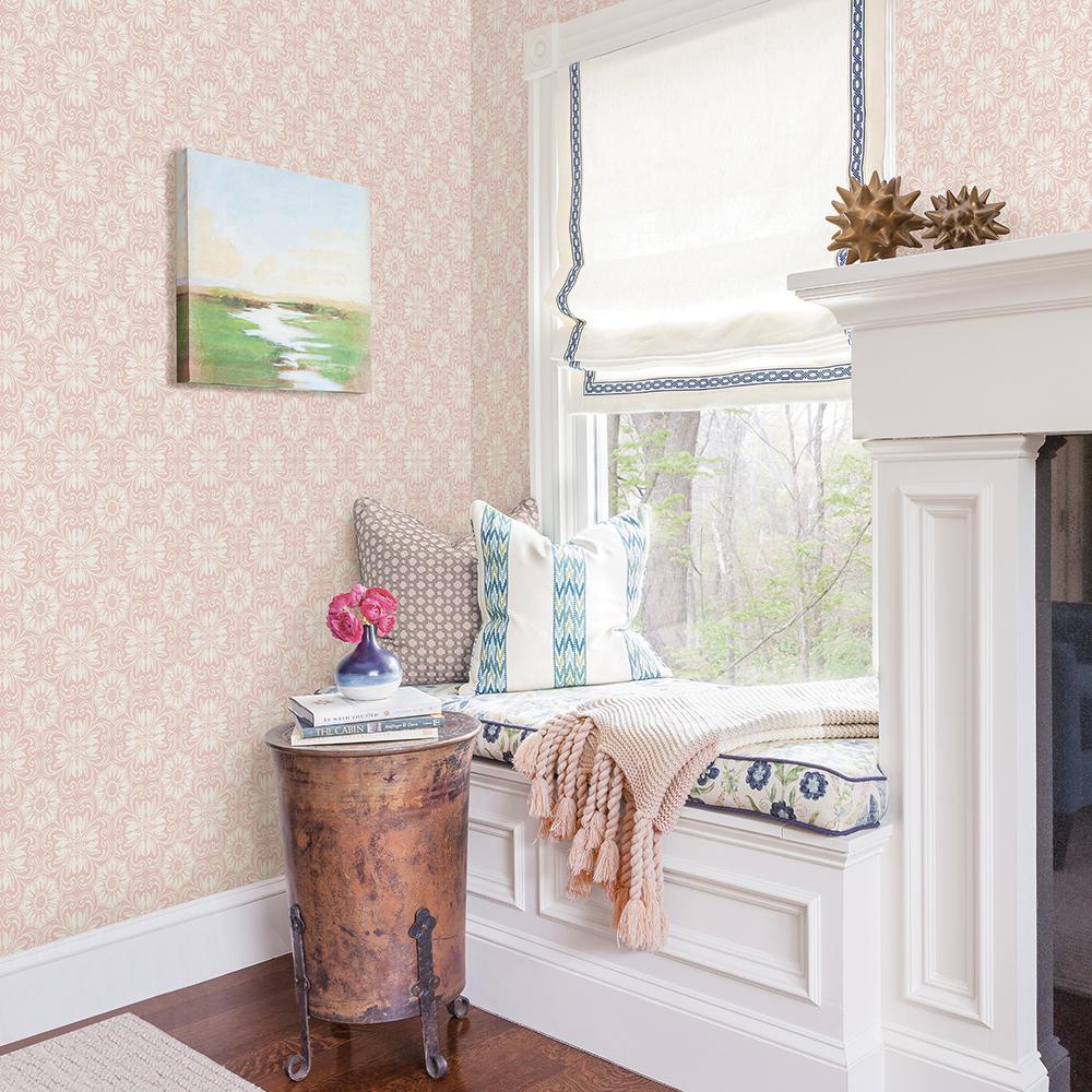 Hessle Pink Floral Pink Wallpaper Sample