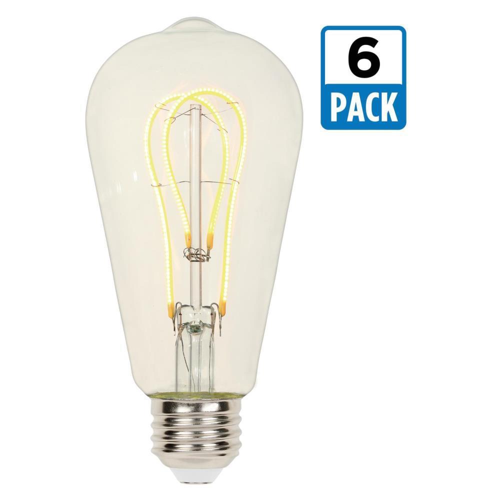 25-Watt Equivalent ST20 Dimmable 2700K Flexible Filament LED Light Bulb (6-Pack)